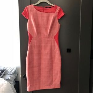 Tahari Dress Pink Tweed - Size 2